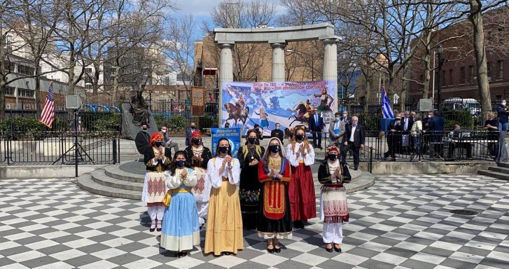 Σήμερα Σάββατο 27 Μαρτίου 2021 ολοκληρώθηκαν οι εκδηλώσεις για τον εορτασμό των 200 χρόνων από την έναρξη της επανάστασης του 1821 στην πλατεία Αθηνών της Αστόριας της ΝΥ.