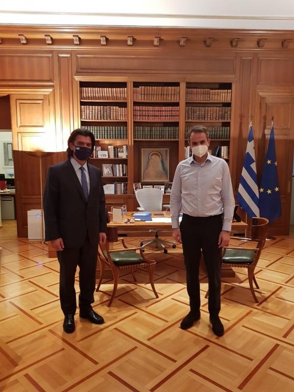 Συνάντηση του Βουλευτή Γρεβενών, Ανδρέα Πάτση με τον Πρωθυπουργό Κυριάκο Μητσοτάκη